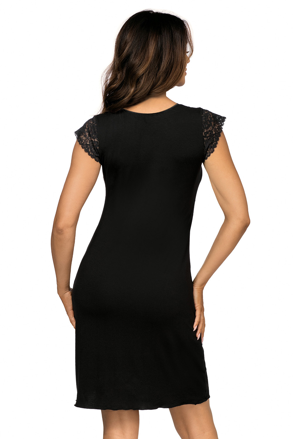 Eleni nightdress Black, don_eleni nightdress black, donna, Польша купить оптом на на Vishcopt.ru