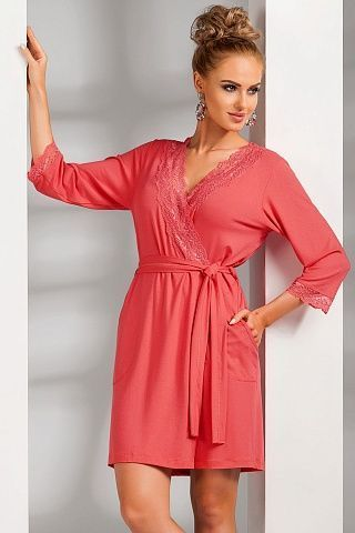 Nadia dressing gown Coral, don_nadia dressing gown coral, donna, Польша