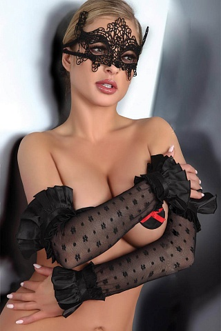 LC 28009 gloves model 11 Black, livco_lc 28009 gloves model 11 black, livco corsetti fashion, Польша