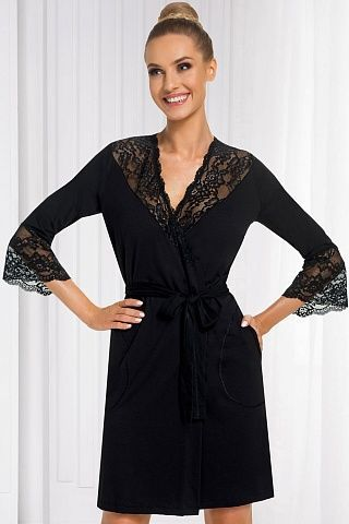 Stella dressing gown Black, don_stella dressing gown black, donna, Польша