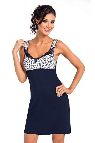 Polly nightdress Dark Blue, don_polly nightdress dark blue, donna, Польша