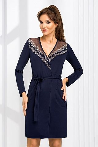 Jasmine dressing gown Dark Blue, don_jasmine dressing gown dark blue, donna, Польша