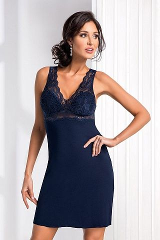 Chantal nightdress Dark Blue, don_chantal nightdress dark blue, donna, Польша