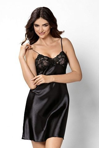 Aisha nightdress Black, don_aisha nightdress black, donna, Польша