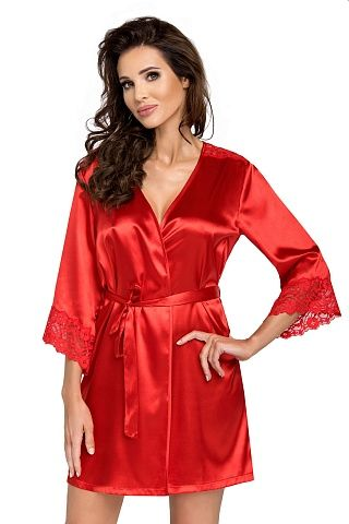 Eva dressing gown Red, don_eva dressing gown red, donna, Польша