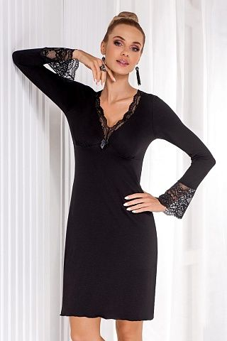Stella II nightdress Black, don_stella ii nightdress black, donna, Польша