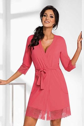 Hana dressing gown Coral, don_hana dressing gown coral, donna, Польша