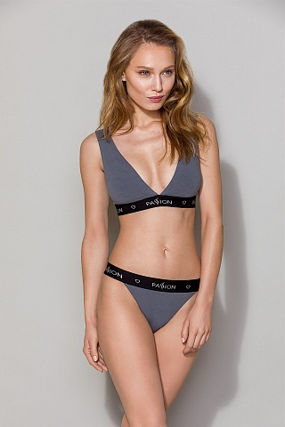 PS015 top Dark Grey, pas_ps015 top dark grey, passion lingerie, Польша