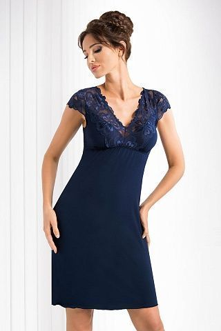 Romina nightdress Dark Blue, don_romina nightdress dark blue, donna, Польша