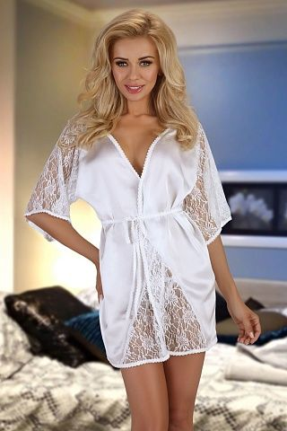 Magnolia dressing gown White, bn_magnolia dressing gown white, beauty night, Польша