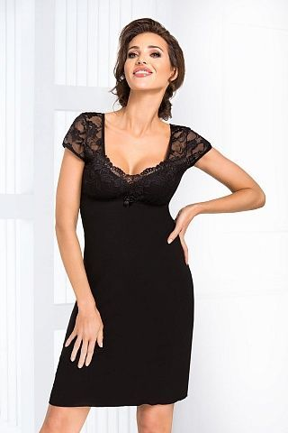 Brigitte nightdress Black, don_brigitte nightdress black, donna, Польша