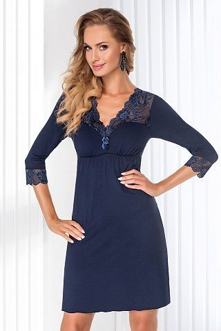 Taylor II nightdress Dark Blue, don_taylor ii nightdress dark blue, donna, Польша