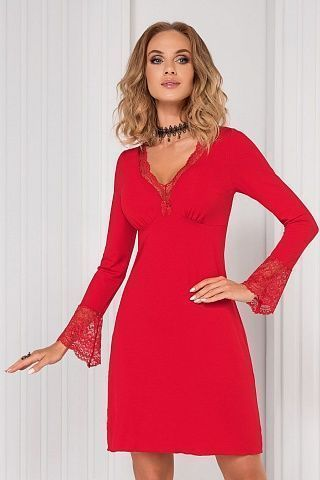 Stella II nightdress Red, don_stella ii nightdress red, donna, Польша