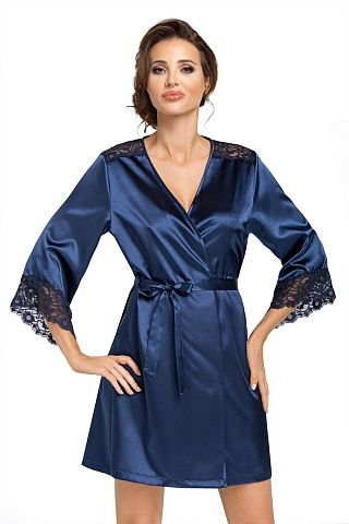 Eva dressing gown Dark Blue, don_eva dressing gown dark blue, donna, Польша