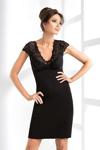 Romina nightdress Black, don_romina nightdress black, donna, Польша