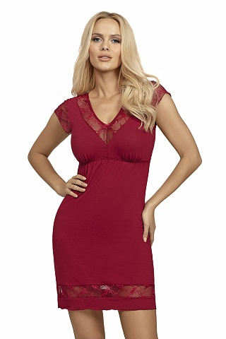 Dafne nightdress Burgundy, don_dafne nightdress burgundy, donna, Польша