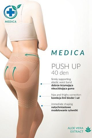 128 Medica Push-Up 40 den Nero