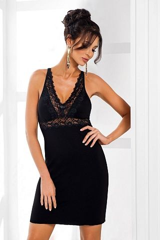 Lily nightdress Black, don_lily nightdress black, donna, Польша