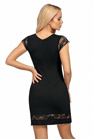 Dafne nightdress Black, don_dafne nightdress black, donna, Польша
