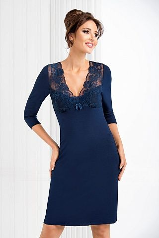 Simone II nightdress Dark Blue, don_simone ii nightdress dark blue, donna, Польша